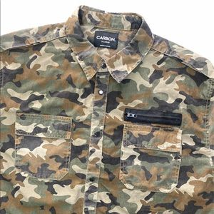 Men's Carbon Camouflage Long Sleeved Shirt